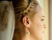 Свадебные прически на средние волосы, фото 7