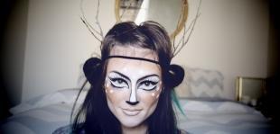 Макияж на Хэллоуин, креативный макияж на хэллоуин
