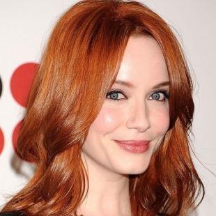 Светло медный цвет волос, карамельно-рыжий цвет волос