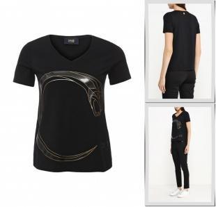 Черные футболки, футболка cavalli class, весна-лето 2016