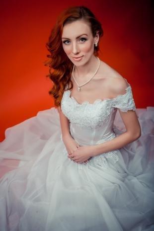 Свадебный макияж для серо-голубых глаз, свадебный макияж для рыжеволосой невесты