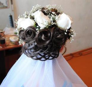 Свадебные прически с длинной фатой на длинные волосы, свадебная прическа с фатой
