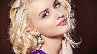 Макияж для зеленых глаз, макияж на выпускной в розово-фиолетовой гамме