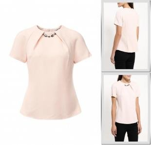 Розовые блузки, блуза adl, осень-зима 2016/2017