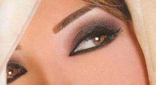 Свадебный макияж в восточном стиле, вечерний яркий макияж в арабском стиле