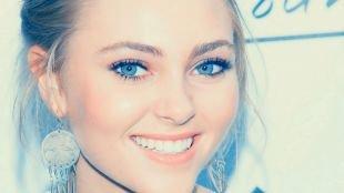 Макияж для блондинок с голубыми глазами, легкий повседневный макияж для голубых глаз