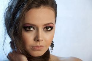 Макияж для круглого лица с карими глазами, вечерний макияж для каре-зеленых глаз