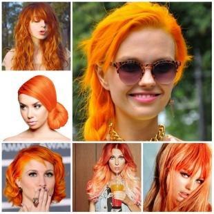 Стрижки и прически на длинные волосы, светло-рыжие волосы