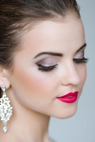 Свадебный макияж в серых тонах, летний свадебный макияж