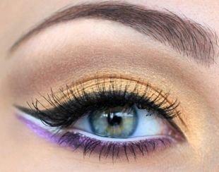 Египетский макияж, восточный макияж для серых глаз