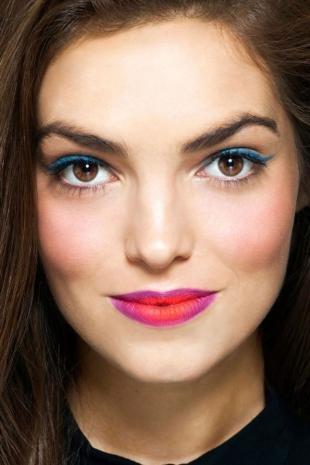 Макияж для далеко посаженных глаз, омбре-макияж губ