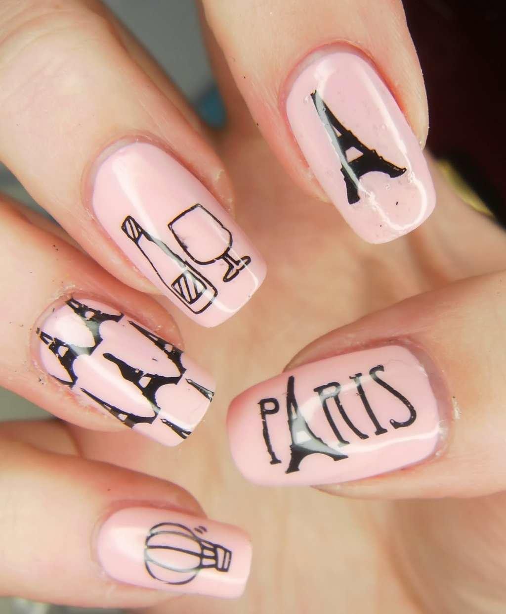 Дизайн ногтей с эйфелевой