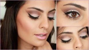 Hochzeit-Make-up für Brünetten mit brauen Augen