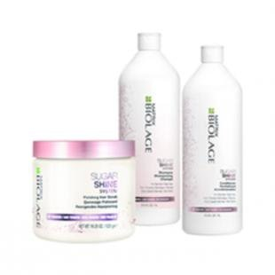 Сахарный скраб, matrix набор biolage sugar shine set (объем 500мл+1000мл+1000мл)