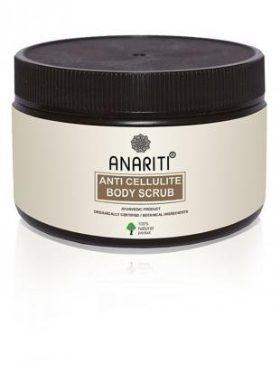 Скраб из соли, anariti антицеллюлитный скраб для тела на основе порошка кофе, гиалайской соли и масла сои, 120гр