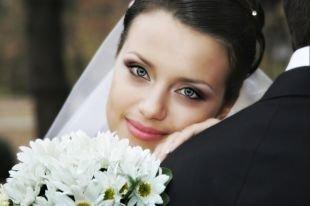 Свадебный макияж для серо-голубых глаз, великолепный свадебный макияж для голубых глаз