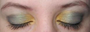 Макияж для каре-зелёных глаз, макияж глаз серый с золотом