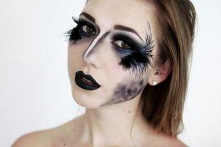 Макияж на Хэллоуин, макияж на хэллоуин - черный лебедь