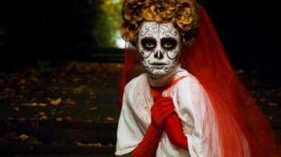 Легкий макияж на хэллоуин, профессиональный грим на хэллоуин