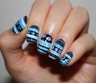 Легкие рисунки на ногтях, маникюр с ромашками