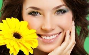Макияж на фотосессию на природе, макияж для серых глаз для брюнетки или шатенки