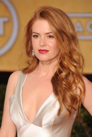 Светло рыжий цвет волос на длинные волосы, медовый цвет волос