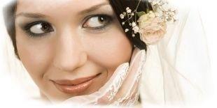 Свадебный макияж для брюнеток, легкий свадебный макияж для зеленых глаз смоки айс