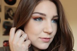 Макияж для шатенок с голубыми глазами, новогодний макияж для миндалевидных глаз