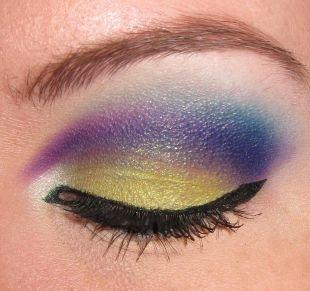 Макияж для голубых глаз с голубыми тенями, прекрасный арабский макияж