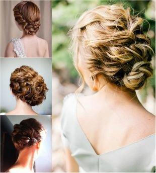 Греческие прически, романтичные свадебные прически на средние волосы