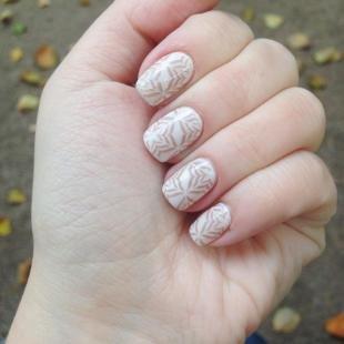 Маникюр с кружевами, белый дизайн ногтей с оригинальными рисунками