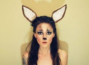 Легкий макияж на хэллоуин, макияж на хэллоуин - очаровательный олень