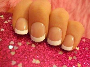 Свадебный маникюр на короткие ногти, аккуратный белый французский маникюр на коротких ногтях