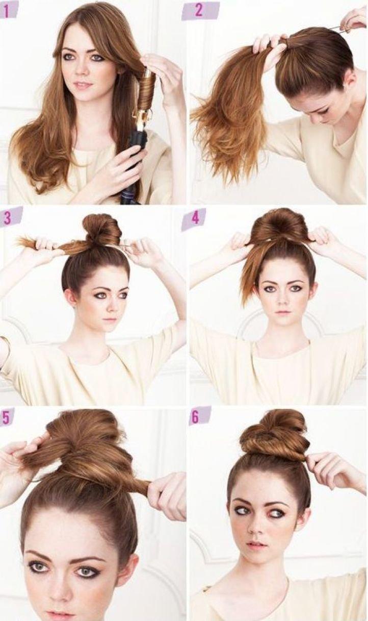 Как сделать гульку если волосы длинные и 569